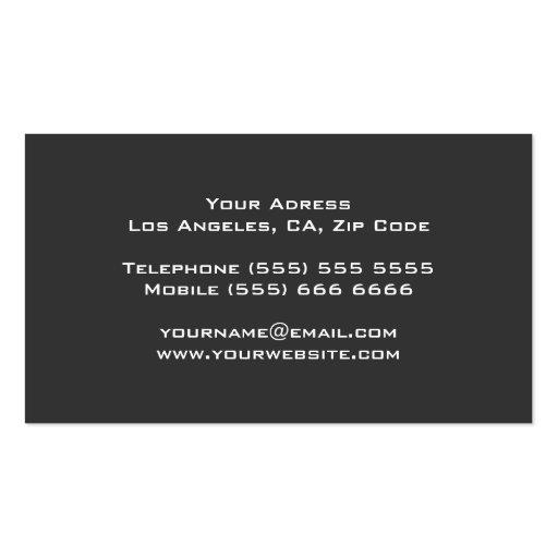 Classy DJ Business Card (back side)