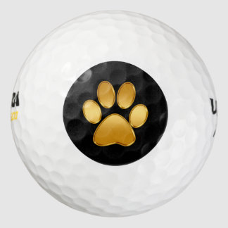 Classy Dog Paw Symbol Golf Balls