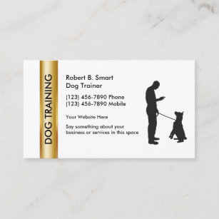 Dog obedience business cards zazzle classy dog training business cards colourmoves