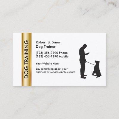 Dog training business cards zazzle colourmoves