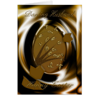 Happy easter to husband gifts on zazzle classy easter egg card for husband negle Image collections