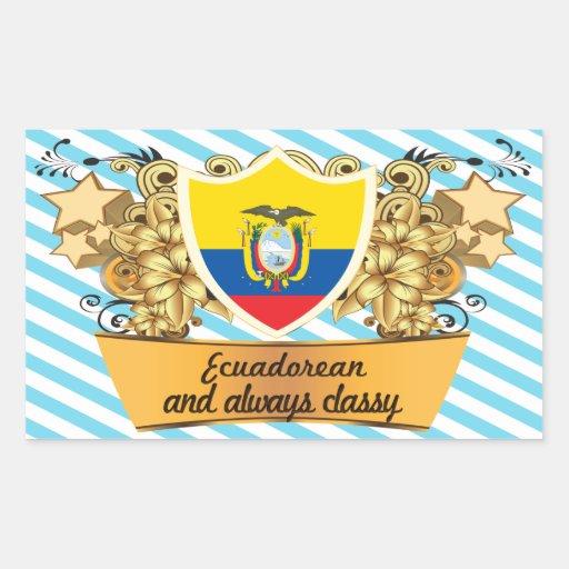 Classy Ecuadorean Rectangular Sticker