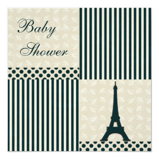 Classy Eiffel Tower Neutral Baby Shower Card