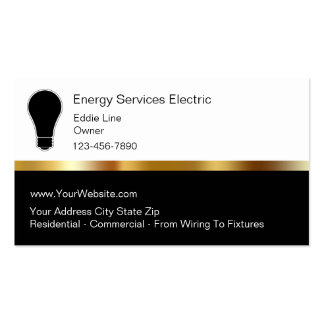Classy Electrian Business Cards