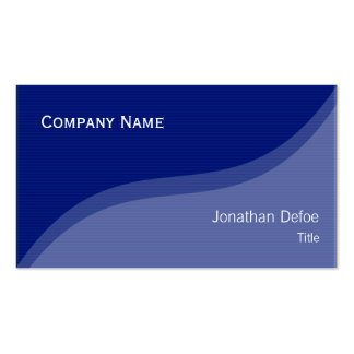 Classy Elegant Blue Professional Business Card