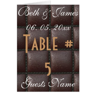 Classy Elegant Leather Wedding Table & Menu Card