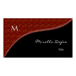 Classy Elegant Monogram Spirals Business Card