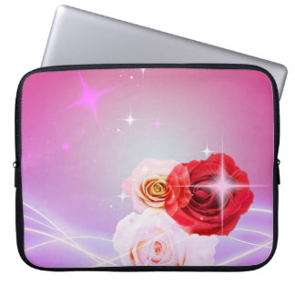 CLASSY ELEGANT PINK ROSES SLEEVE COMPUTER SLEEVE