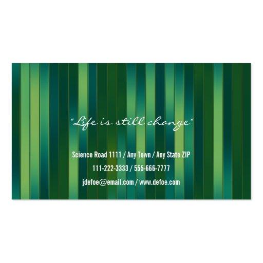 Classy Elegant Professional Business Card (back side)