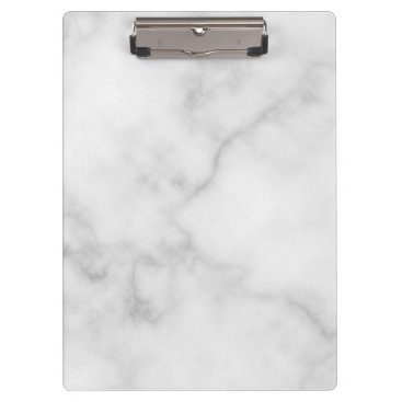 Aztec Themed Classy Elegant White Marble Pattern Clipboard