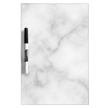 Aztec Themed Classy Elegant White Marble Pattern Dry Erase Board
