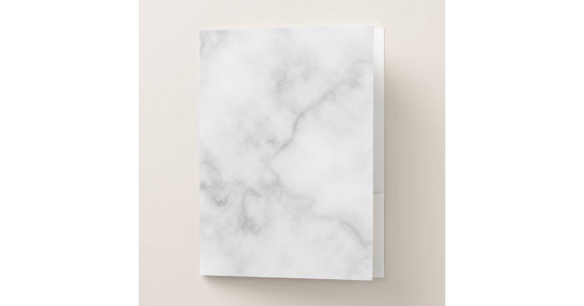 Classy Elegant White Marble Pattern Pocket Folder Zazzle Com