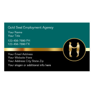 Classy Employment Agency Business Cards