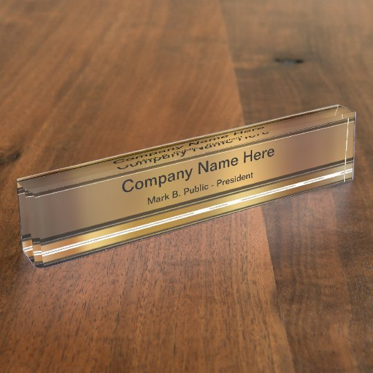 Classy Executive Desk Name Plates Zazzle Com