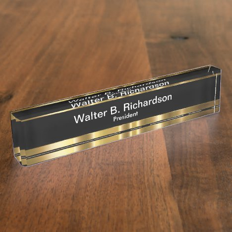 Classy Executive Gift iDea Nameplate