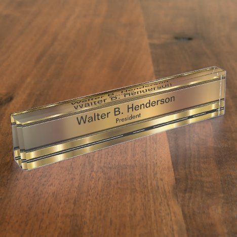 Classy Executive Gift Name Plaque Desk Name Plate