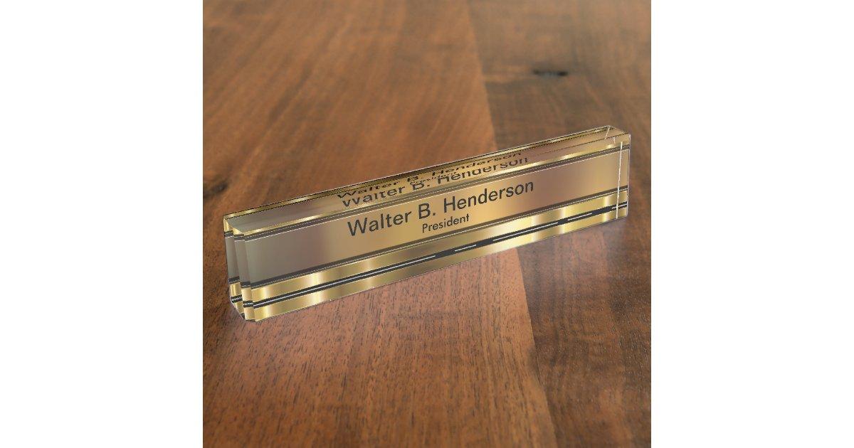 Classy Executive Gift Name Plaque Desk Name Plate | Zazzle.com
