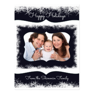 Classy Family Christmas Postcard Your Photo