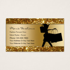 Classy Fashion Business Cards at Zazzle