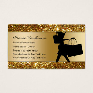 Bling business cards templates zazzle classy fashion business cards colourmoves