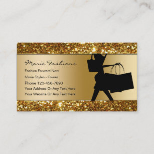 Clothing business cards zazzle classy fashion business cards reheart Gallery