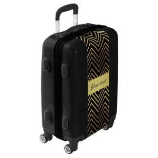 Classy Faux Gold Foil Chevrons Luggage
