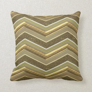 Classy Faux Gold Metal Chevrons Throw Pillow