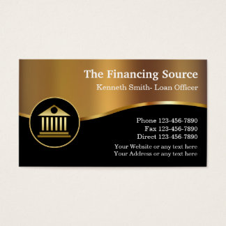 Classy Financial Services Business Card