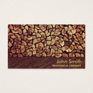 Classy Firewood Biological Chemist Business Card