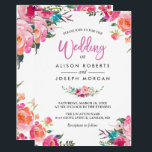 """Classy Floral Blossom Watercolor Flowers Wedding Card<br><div class=""""desc"""">================= ABOUT THIS DESIGN ================= Classy Floral Blossom Watercolor Flowers Wedding Invitation. (1) For further customization, please click the &quot;Customize&quot; button and use our design tool to modify this template. (2) If you prefer thicker papers, you may consider to choose the Matte Paper Type. (3) If you need help or...</div>"""
