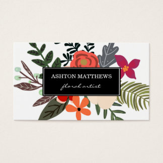 Classy Floral Bouquet Professional Business Card
