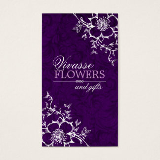 Classy Floral Business Cards