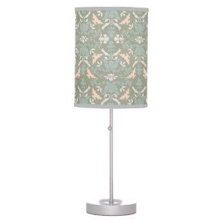 Classy Floral Damask Pattern Desk Lamp