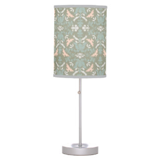 Classy Floral Damask Pattern Table Lamps