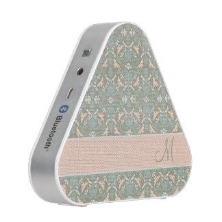 Classy Floral Monogram Damask Bluetooth Speaker