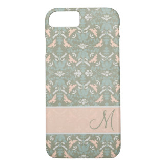 Classy Floral Monogram Damask iPhone 8/7 Case
