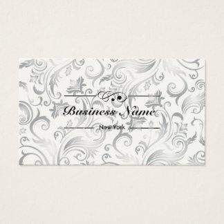 Classy Floral Patterns Boutique Shop Business Card