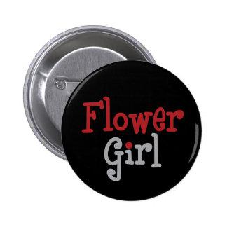 Classy Flower Girl Button
