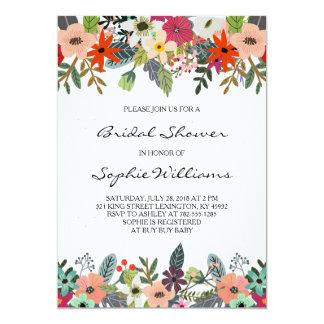 Classy Flowers Bridal Shower Card