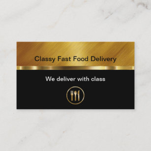 Food delivery business cards zazzle classy food delivery business cards colourmoves