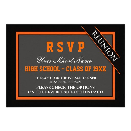 Classy Formal Class Reunion RSVP Announcement