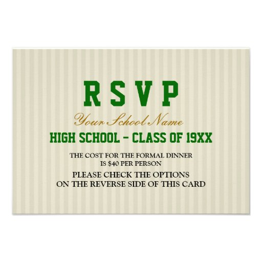 Classy Formal Class Reunion RSVP Announcements
