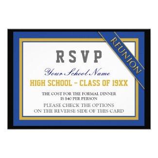 Classy Formal Class Reunion RSVP Custom Invites