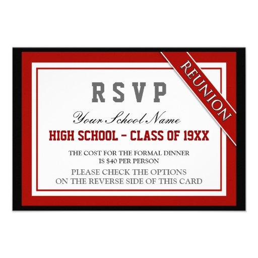 Classy Formal Class Reunion RSVP Custom Announcements