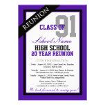 Classy Formal High School Reunion Announcements