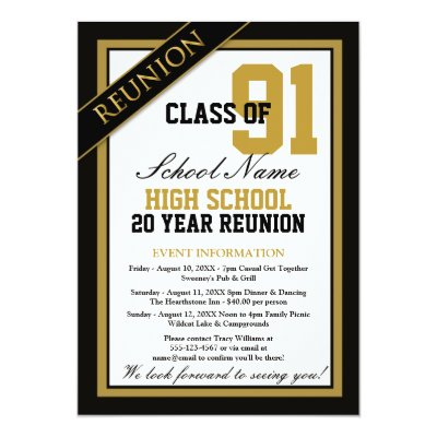 High School Class Reunion Rsvp Card Zazzle Com