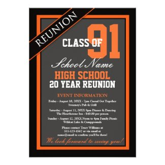 Custom high schoolclass reunion invitations classy formal high school reunion invitation stopboris Image collections