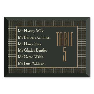 Classy Frame Bear Gay Wedding Table Card (Names)