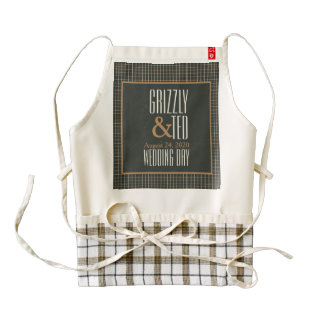 Classy Framed Bear Pride Gay Heart Grooms Apron
