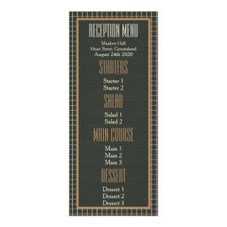 """Classy Framed Bear Pride Gay Wedding Menu Card 4"""" X 9.25"""" Invitation Card"""